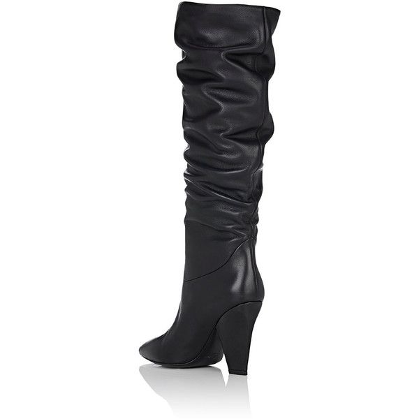 479a2038d Barneys New York Women s Leather Slouchy Knee Boots ( 545) ❤ liked on Polyvore  featuring shoes