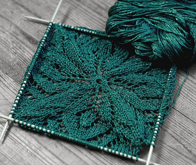 p.14 Kunst Lace Square Motif Pullover pattern by Mariko ...