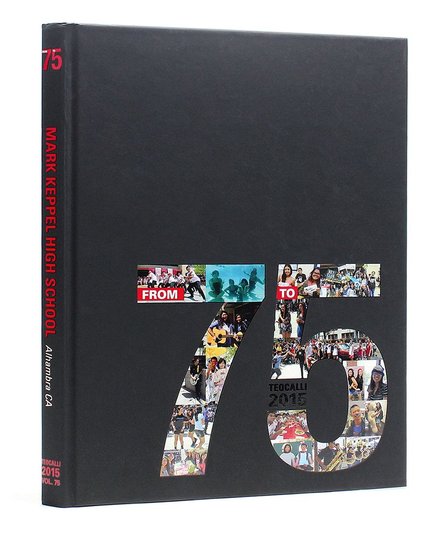 Black Yearbook Cover : Mark keppel high school yearbook cover black
