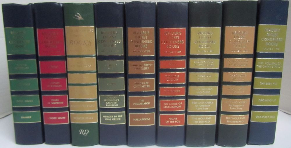 Readers Digest Condensed Books Decor Library Arts Crafts Decoration Lot Of 9