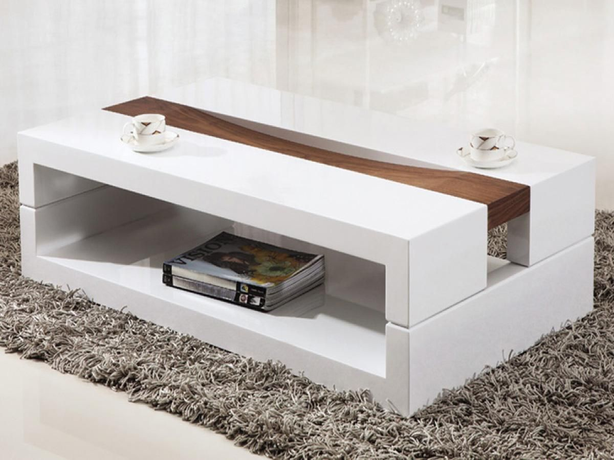 Nice Room Decoration with Rectangle Contemporary Coffee Tables ...