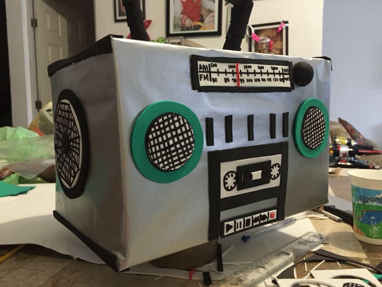 Radio Grabadora de Cartón | Dibujos | Pinterest | Radios, Cartón y ...