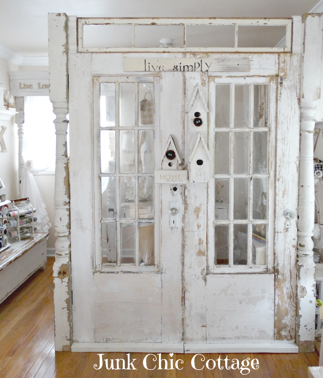 Junk Chic Cottage: Where Bloggers Create 6th Annual Blog Party on Creative  Spaces. Salvaged DoorsOld ... - Junk Chic Cottage: Where Bloggers Create 6th Annual Blog Party On