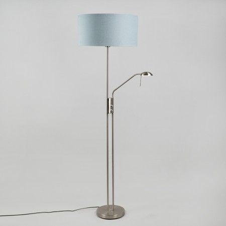 Lámpara de pie LUXOR acero 50cm gris azulado