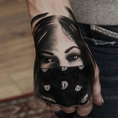 Mexican Girl Tattoo Chicano Tattoos Hand Tattoos For Guys Tattoos