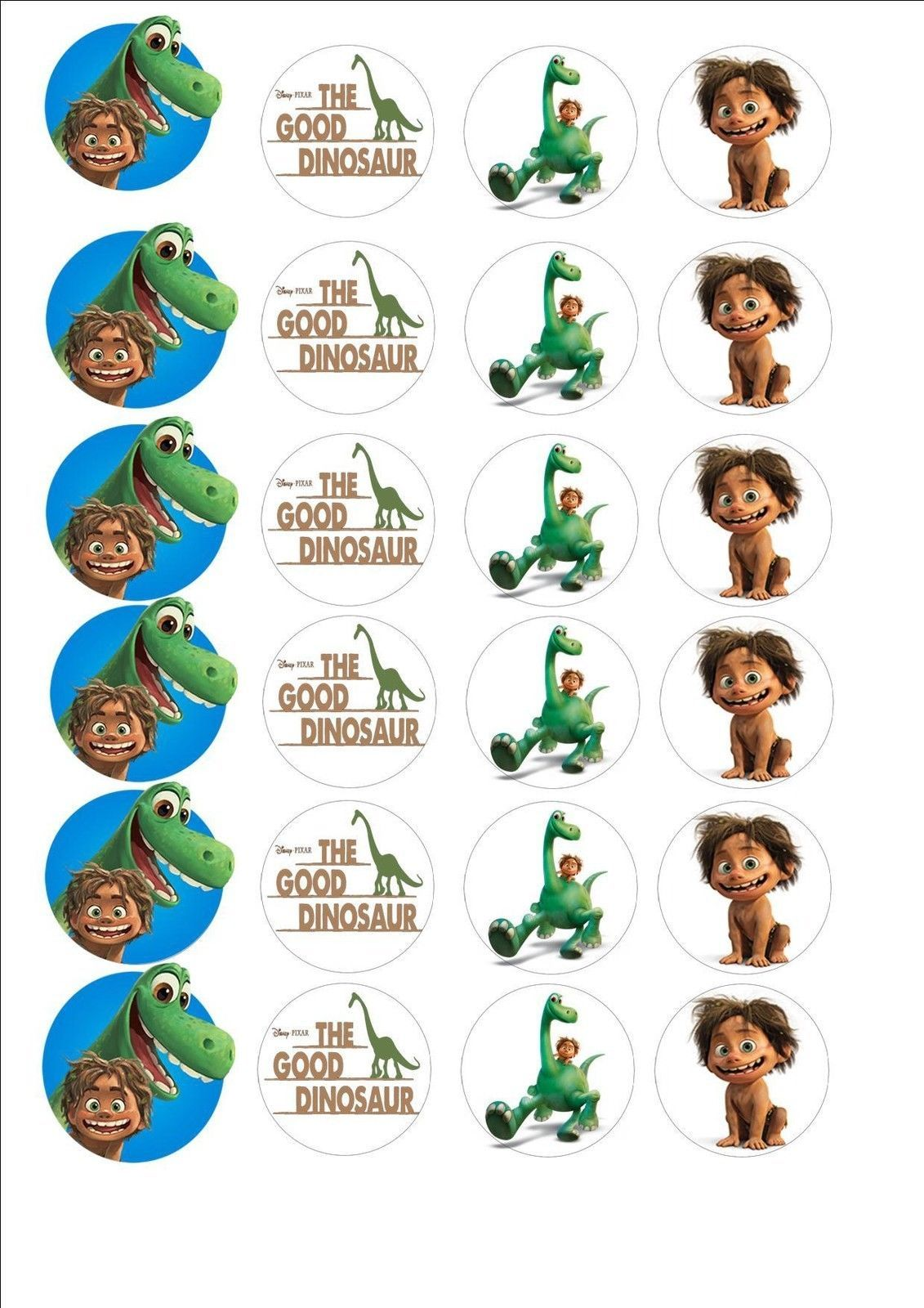 The Good Dinosaur Fairy Cup Cake Decoration Toppers X 24 On Icing In Crafts Cake Decorating