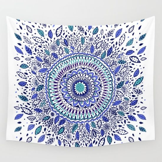 Buy Indigo Flowered Mandala Wall Tapestry by Janet Broxon. Worldwide shipping available at Society6.com. Just one of millions of high quality products available.