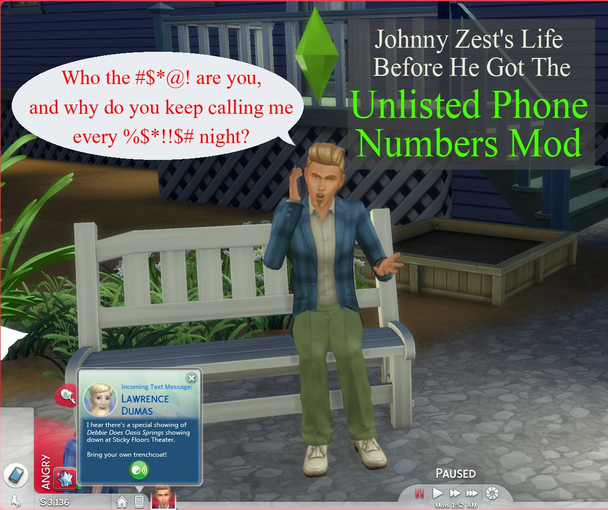 Other Sims cannot call your played Sims until you Exchange Numbers