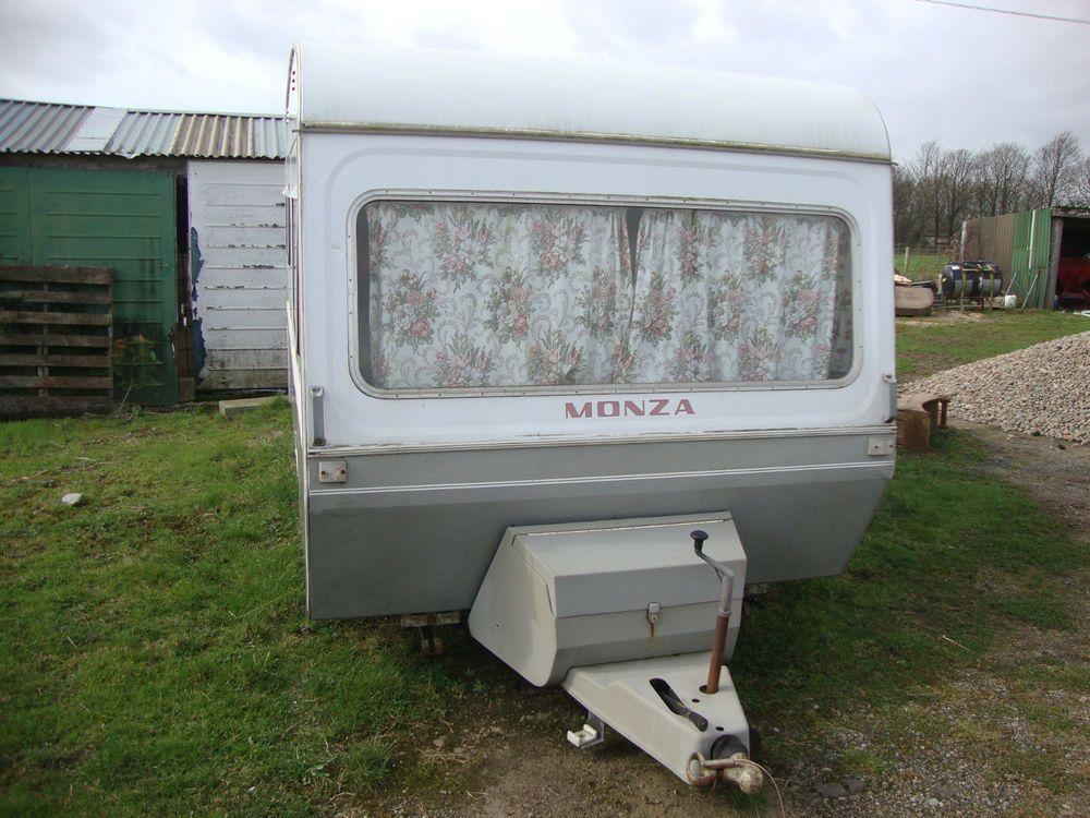 Vintage Retro Caravan Later 1970s Monza 2 3 Berth With Awning Retro Caravan Vintage Camper Retro Vintage