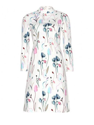 Miu Miu Printed crepe dress - Niet voor muurbloempjes: zo draag je de bloem dit seizoen
