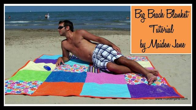 Maiden Jane: Big Beach Blanket Tutorial **** use canvass material for the bottom ****