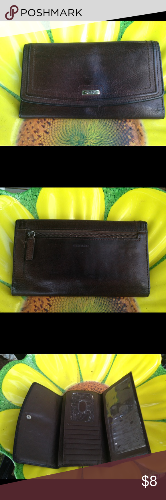 Fossil Brown Wallet Normal wear the corners a little wear. Fossil Bags Wallets