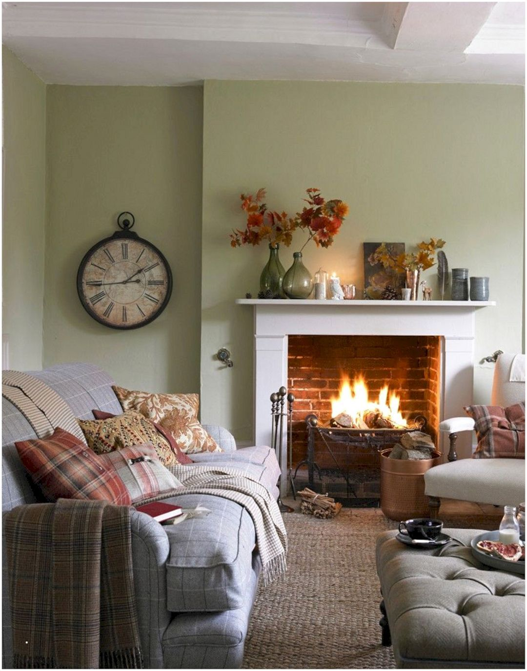 15 Fascinating Diy Fall Living Room Decoration With Fireplace Ideas Freshouz Com Small Living Room Decor Living Room Warm Country Living Room