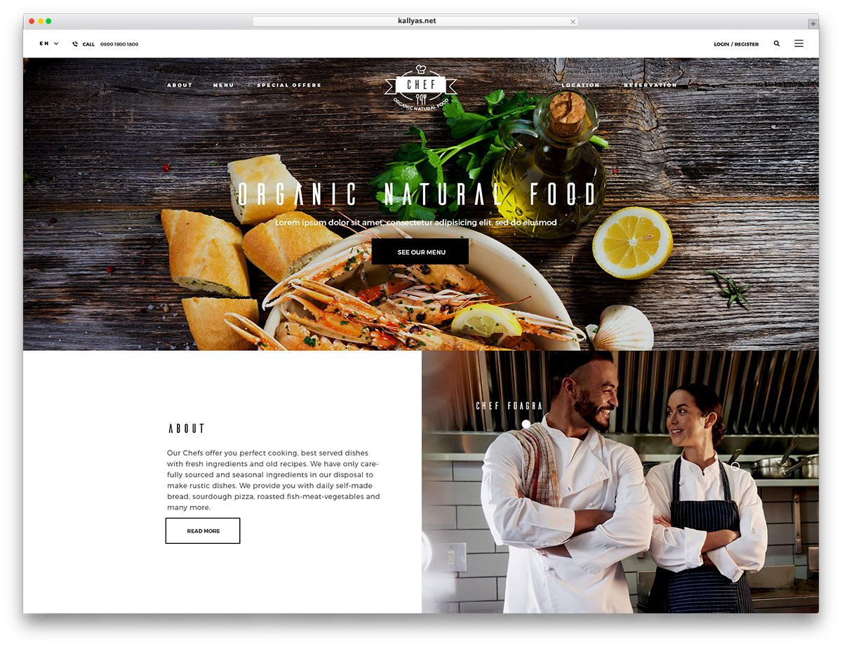 A hand picked list of the best food wordpress themes