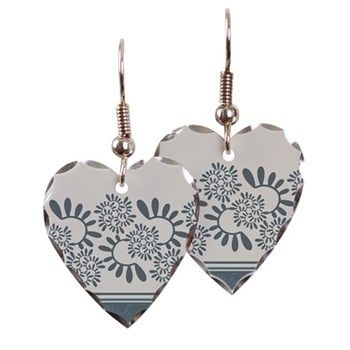 """Ornament """"Smoky"""" Earring Ornament """"Smoky"""" vegetable, gray-blue color  $16.89"""