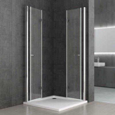 Details zu Dusche Duschkabine NANO Eckeinstieg180° Falttür