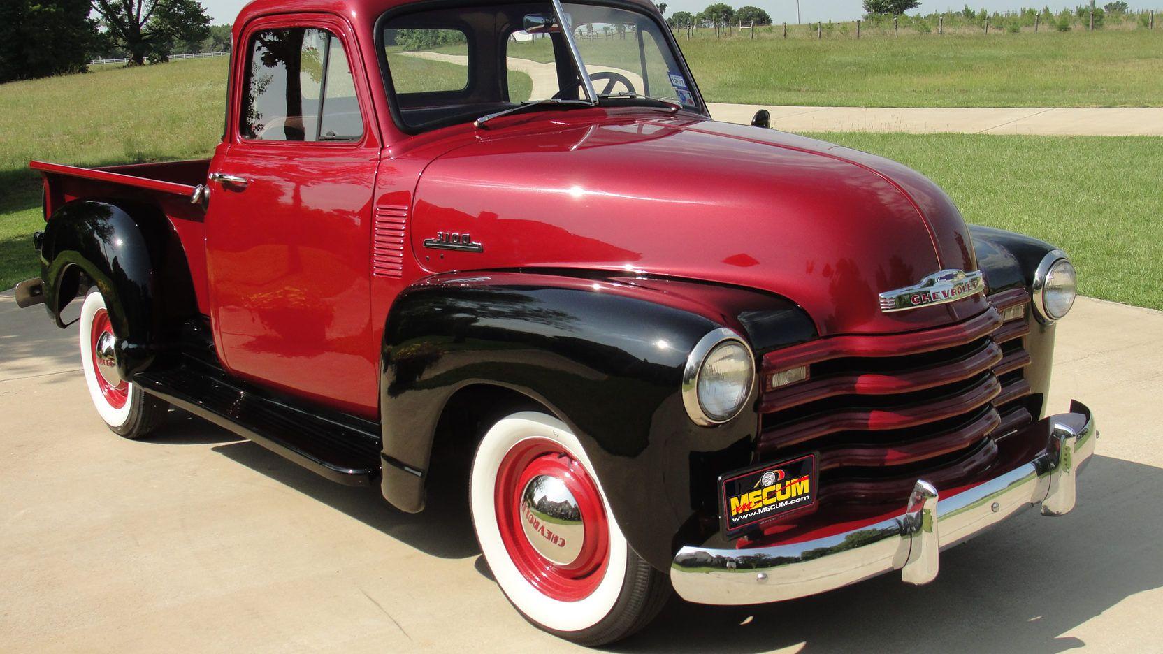1953 Chevrolet 3100 Pickup Presented As Lot F47 At Dallas Tx