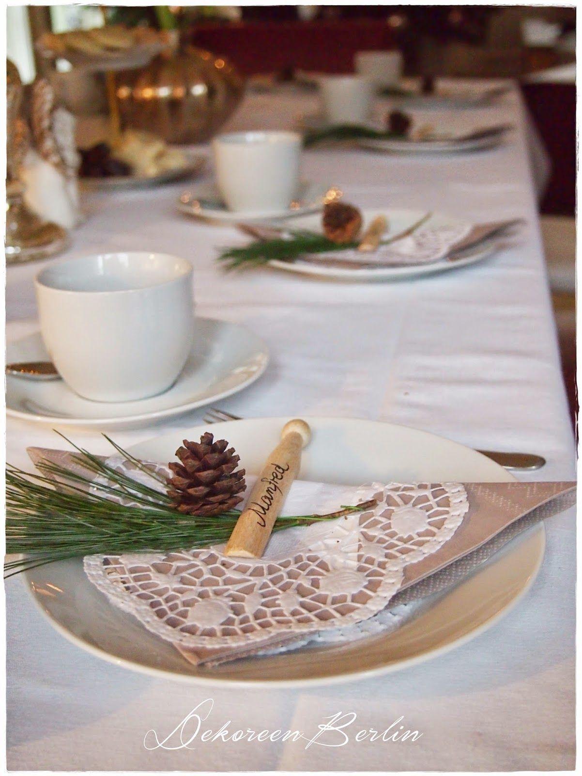 Tischdeko weihnachten shabby chic wohn design - Tischdeko gunstig ...