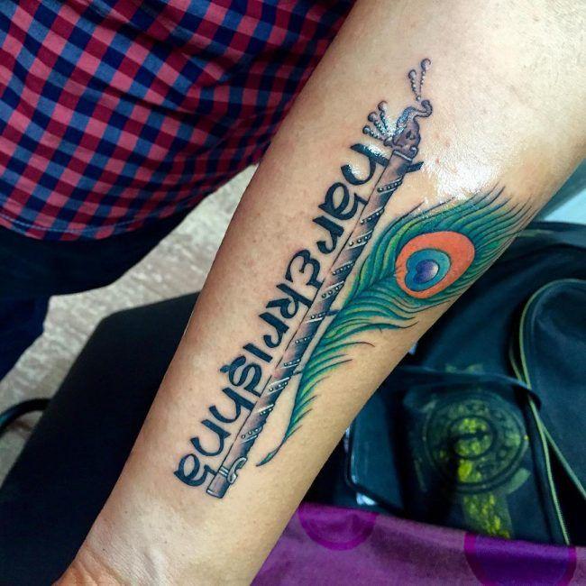 70 Heilige Hindu Tattoo Ideen Unglaubliche Designs Voller Farbe Und Bedeutung Designs Heilige Hindu Ideen Krishna Tattoo Federtattoos Tattoos Manner