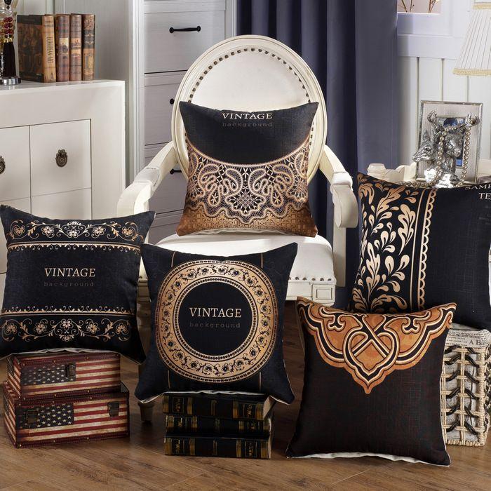 "18/"" Fashion Throw Pillow Case Cotton Linen Cushion Cover Square Sofa Home Decor"
