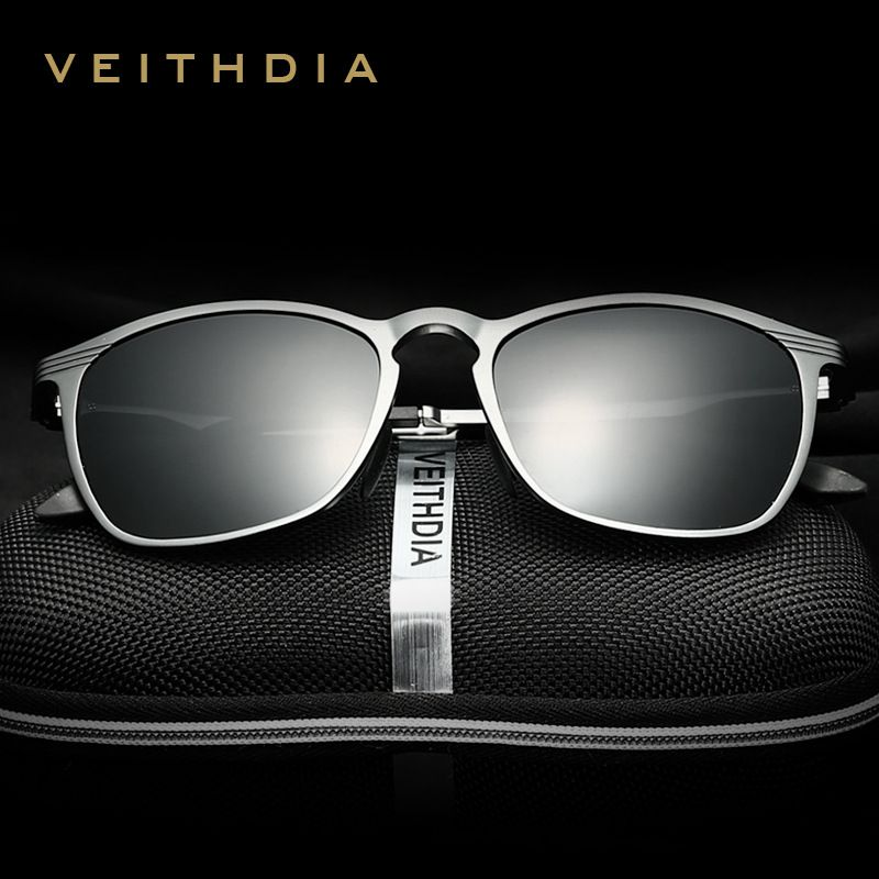 b53675ea0 VEITHDIA Retro Aluminum Magnesium Brand Designer Sunglasses Polarized Lens  Vintage Eyewear Accessories Sun Glasses For Men