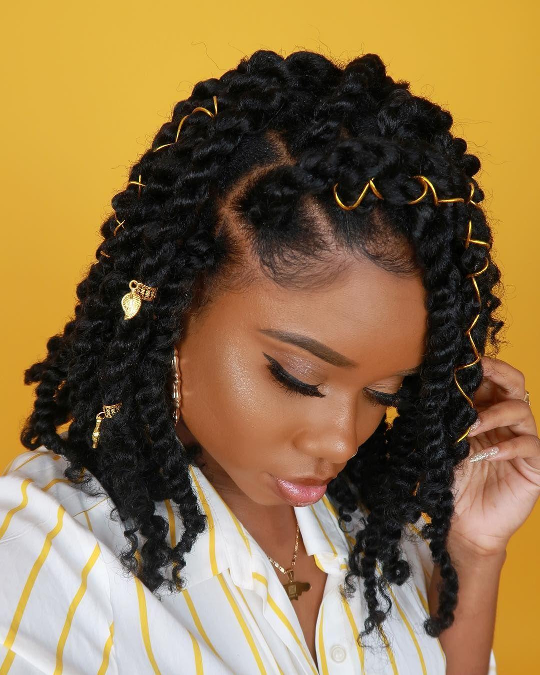 Passion Twist Hair Natural Black Water Wave Bohemian Braids Summer Hairdos Natural Hair Styles Twist Hairstyles
