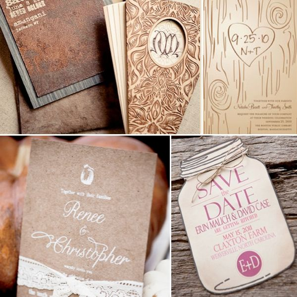 invite inspirationthe one with the initials carved into the tree book wedding invitationsinvitation ideasmason jar invitationsrustic invitationsunique - Unique Wedding Invitation Ideas
