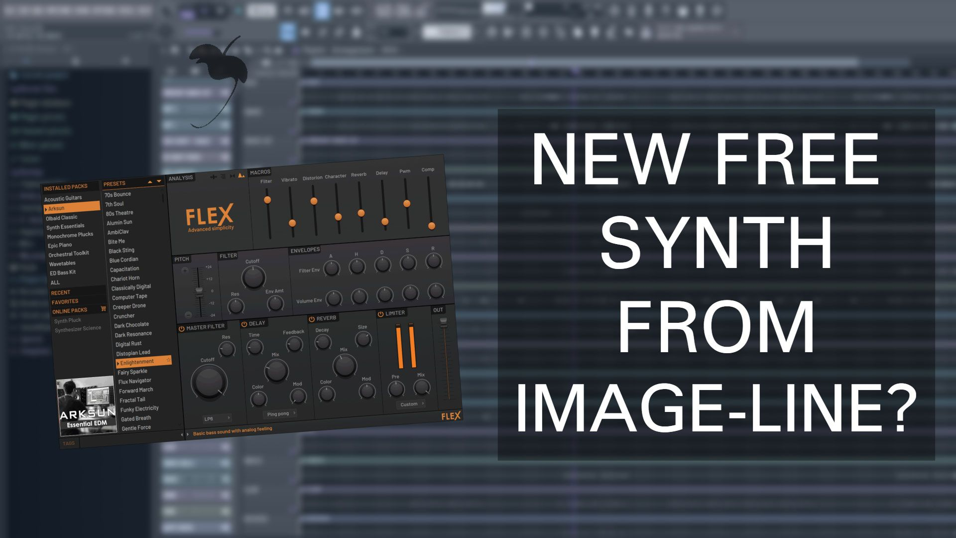 Making A Beat In Fl Studio With Flex Image Line S New Synth Synth Flex Studio