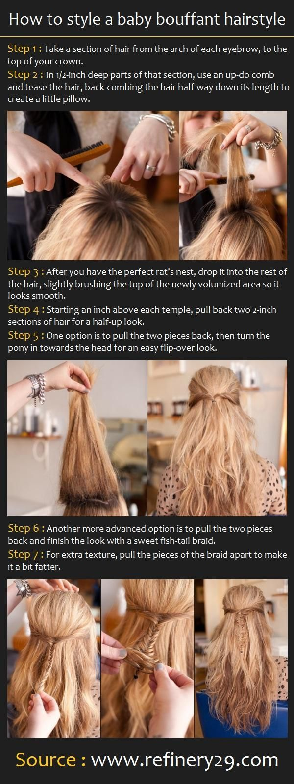 How to style a baby bouffant hairstyle hair cuts pinterest