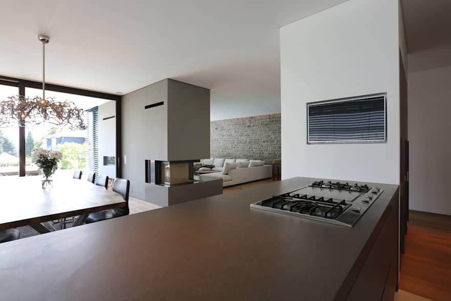 Villa P2 von DG/D Architekten Wohnzimmer modern Pinterest Villas - moderne wohnzimmer beleuchtung