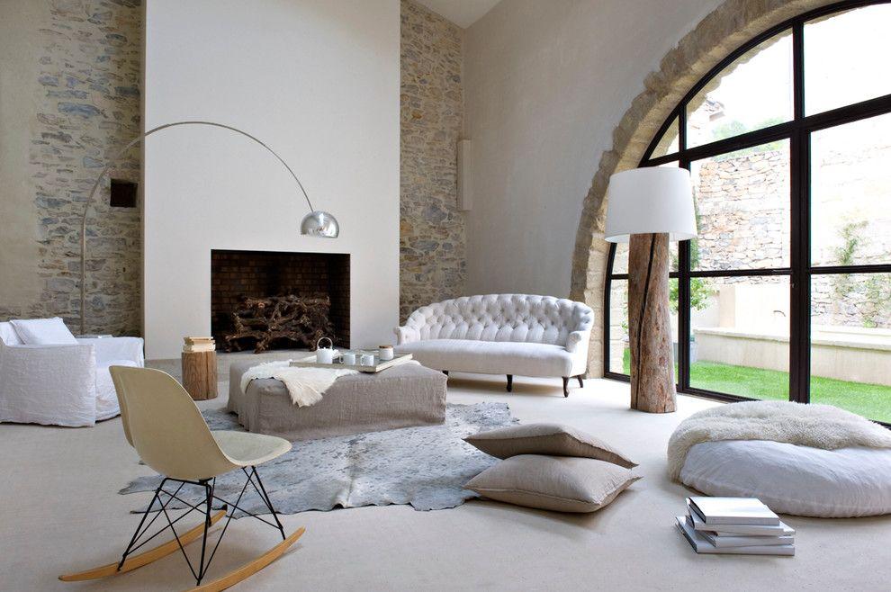 Sitzsack Sofa Günstig Im Modern Wohnbereich Mit Mur Pierres - wohnzimmer gestalten beige