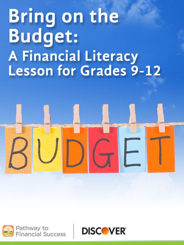Bring On The Budget Lesson About Budgeting For High School Students