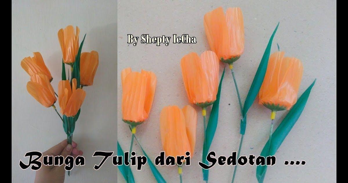 10 Bunga Mawar Dari Sedotan Bekas Bunga Tulip Dari Sedotan