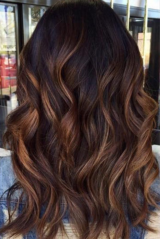 35 balayage hair ideas in brown to caramel tone balayage - Balayage braun caramel ...