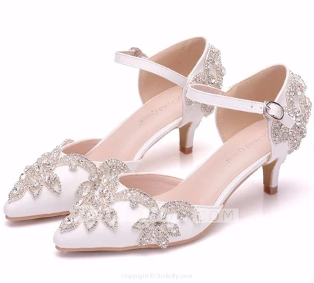 White Rhinestone Princess Wedding Sandals Bridelily In 2020 Wedding Sandals Bridal Shoes Low Heel Wedding Sandals Heels
