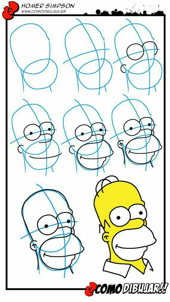 How to draw Bart Simpson on a skateboard - Step by step ...