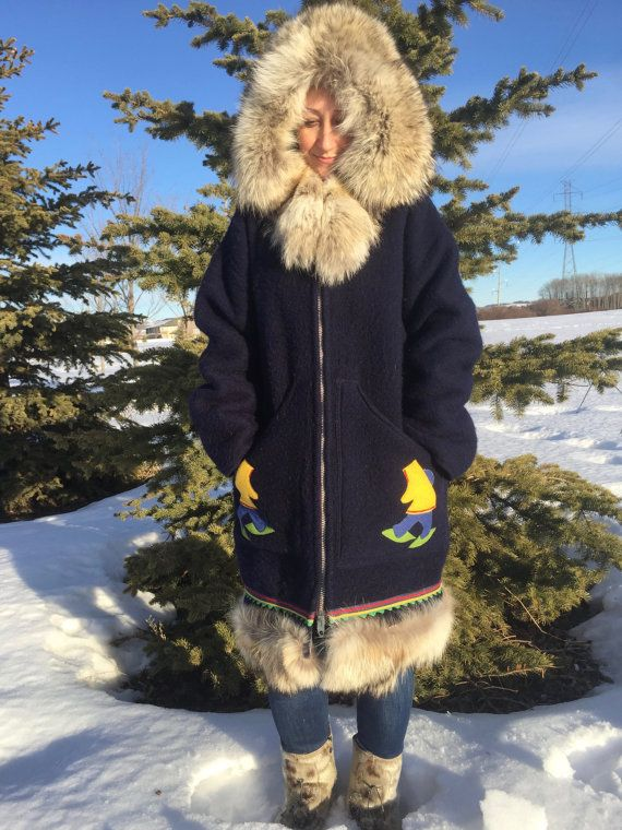 By Collections Parka Authentic 60s70s Vintage Hand Made Eskimo 0IAqE