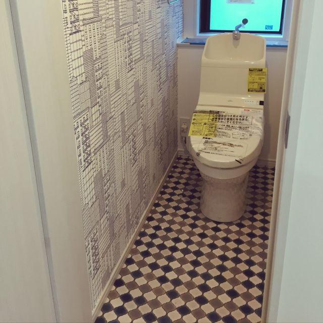 バス トイレ サンゲツ壁紙 壁紙 クッションフロア コラベルタイル風