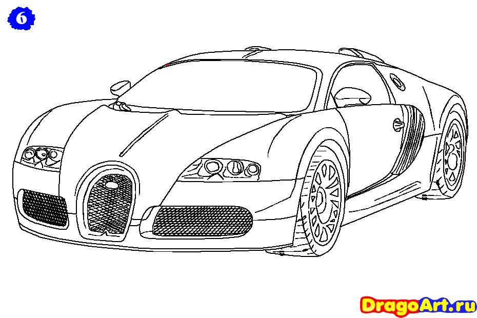 How To Draw Bugatti Veyron Com Imagens Bugatti Desenhos