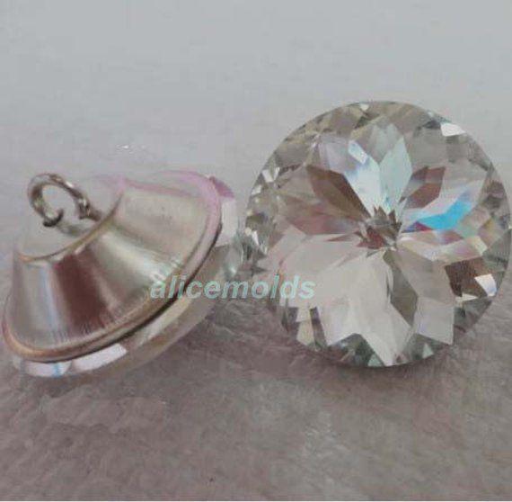 10pcs 25mm Diamante/Diamond/Crystal Clear Upholstery Headboa…