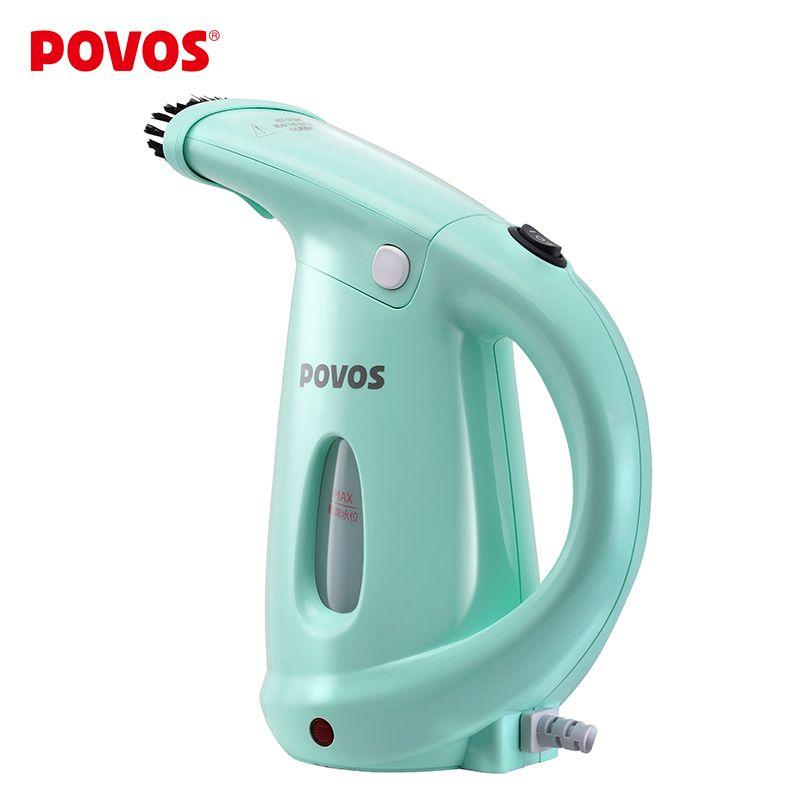 POVOS Elettrico Macchina Per Vestire Mini Appeso ferro Garment Steamer 2 in 1 Faccia A Vapore per la Donna Spa Viso Bellezza Della Pelle PW530