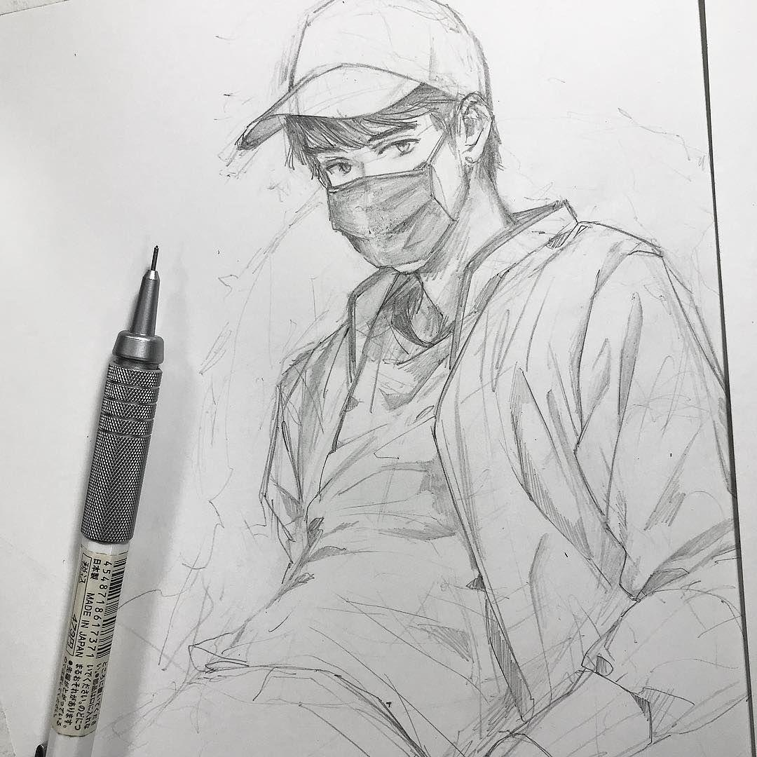 Artbyshinji on instagram cool drawings pencil drawings anime sketch magna anime copic