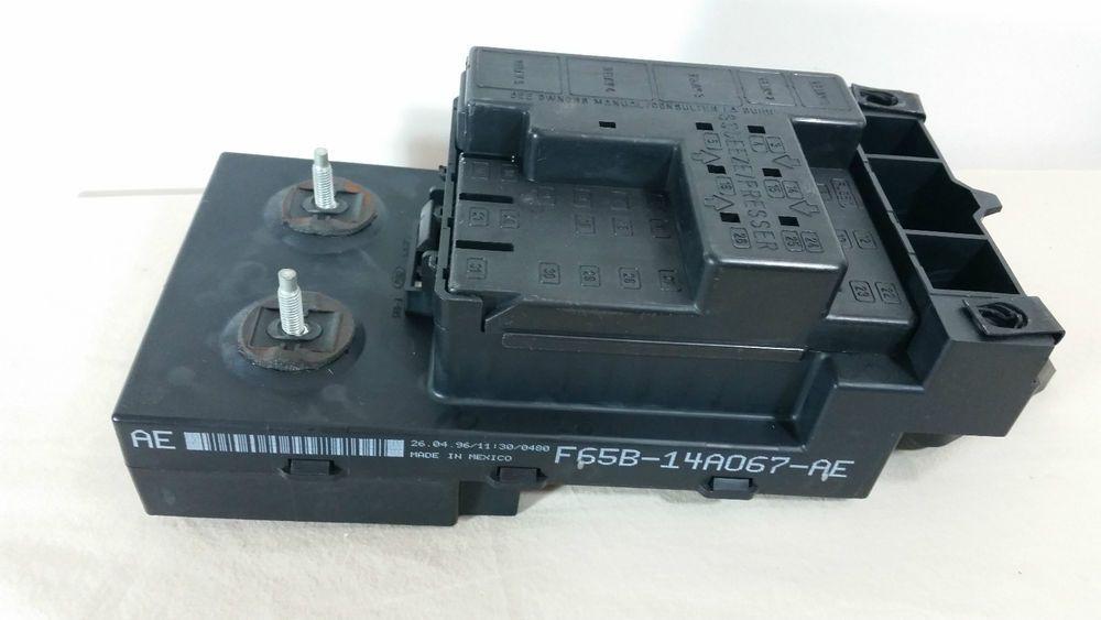 1997 1998 Ford F150 4 6l Under Dash Fuse Relay Box Oem   F65b