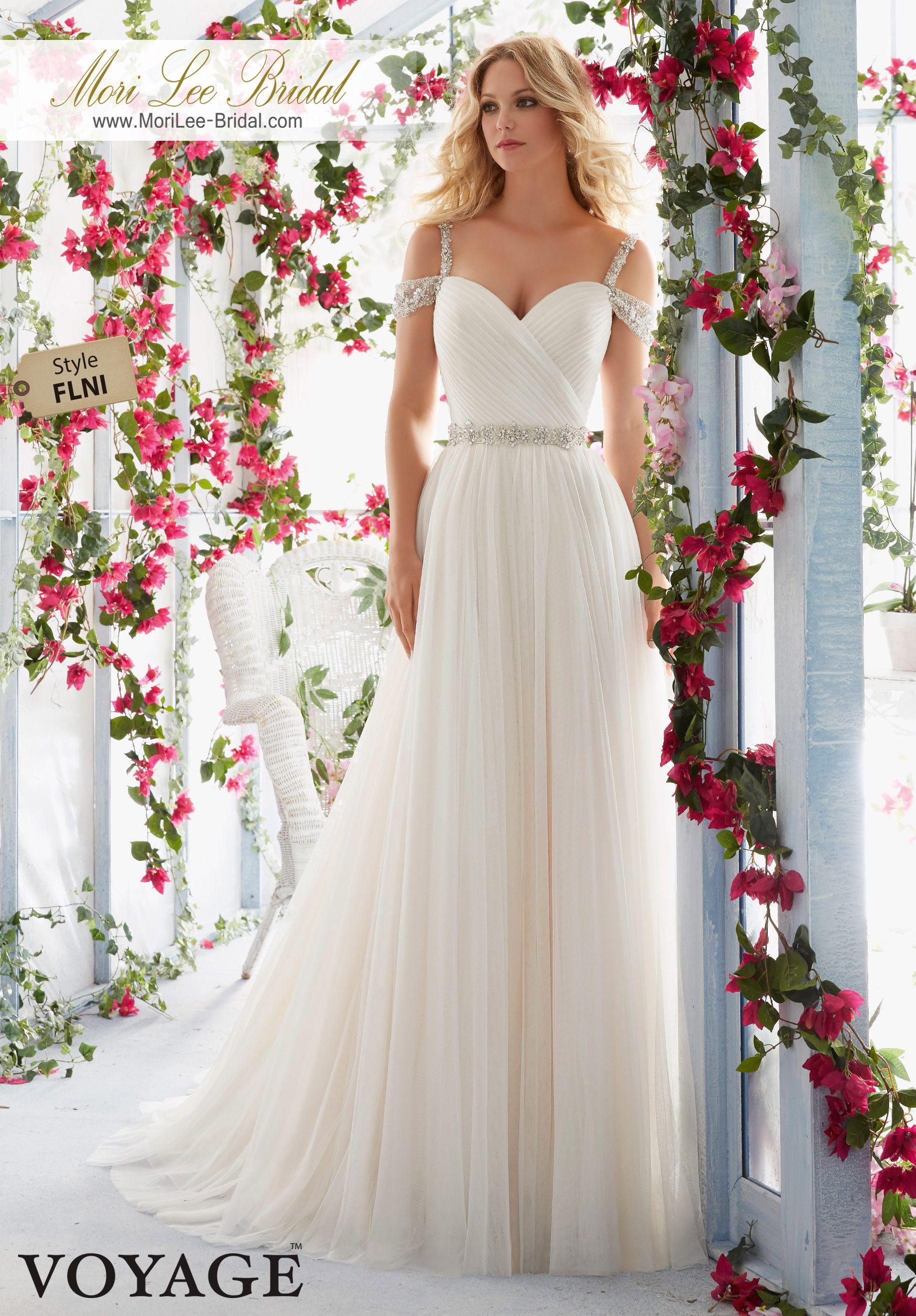 Bellas wedding dress  Dress Style FLNI Crystal Beaded Embroidered Straps On Cold Shoulder
