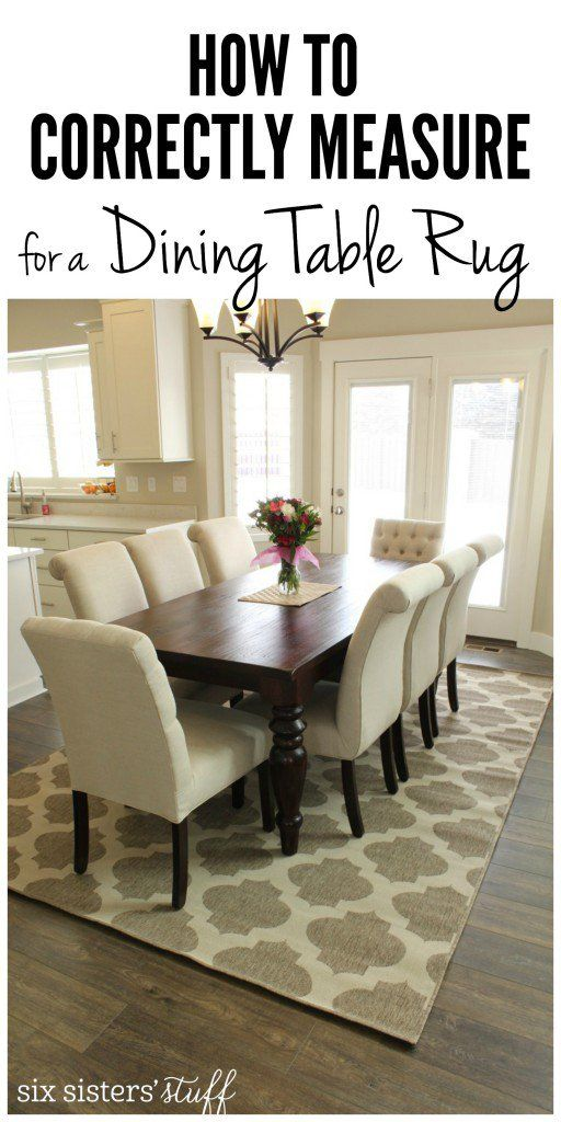 how to correctly measure for a dining room table rug and the best
