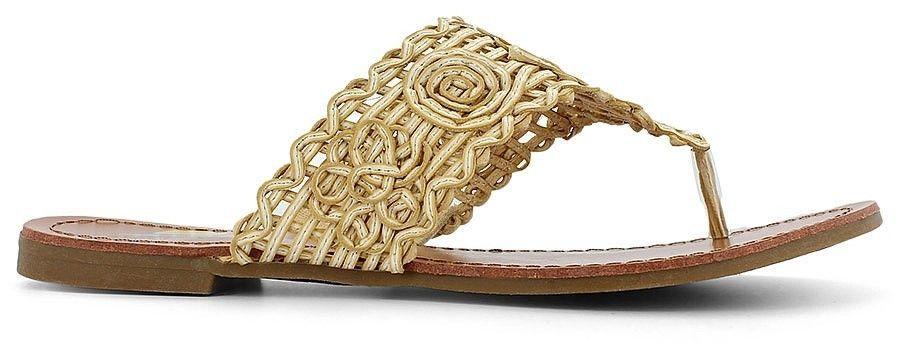 1408955d0e55e1 Maui Island Ladies Pretty Tan Crochet Sandals Size 11 Medium