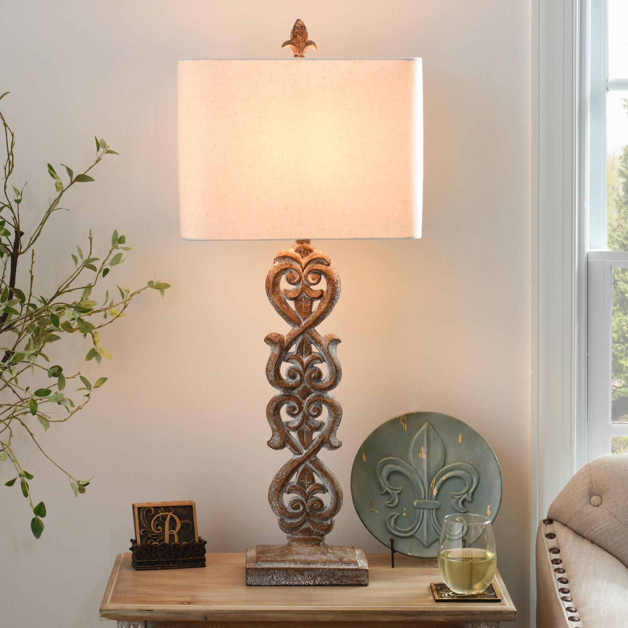 Carved Kerala Table Lamp. Bedroom Decorating TipsBudget ...