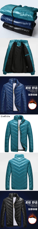 585df334cf8 GODLIKE Winter Jacket Men 2017 Men Cotton Blend Coats Zipper Mens Jacket  Casual Thick Outwear Asia