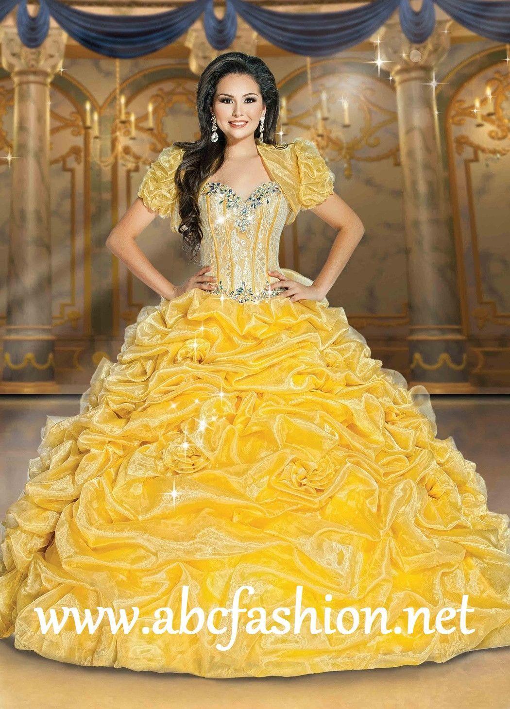 Disney royal ball quinceanera dress belle style dream