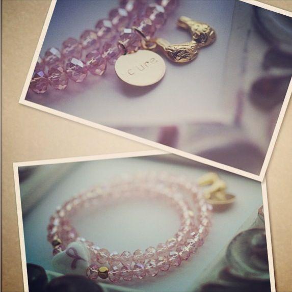 Breast cancer awareness bracelet by jewelsdejuliet on Instagram and Facebook